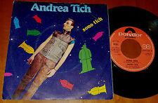 """45 GIRI – 7"""" - ANDREA TICH: SONO TICH / BRUTTO AFFARE electronic synth pop rock"""