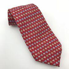 TANGO Red Men's Silk Tie with Fish Pattern