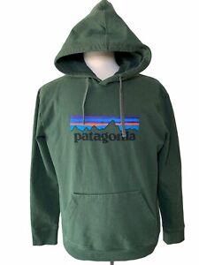 Patagonia Uprisal Green Hooded Graphic Logo Recycled Sweatshirt Large