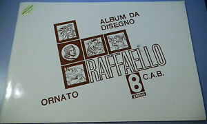 (PRL) ALBUMS DA DISEGNO ORNATO 10 FOGLI PAGINE 24x34 cm 1980 C.A.B. BINDA ITALY