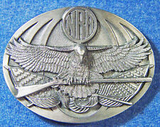 Flag Belt Buckle - Bergamot E-251 New Vintage 1994 Nra Eagle Patriotic American