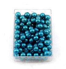 250 Wachsperlen 8mm türkis Perlen Tischdeko Hochzeit Perlensterne Drahtsterne