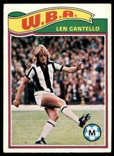 278 Topps Football Red 1977 B1 Len Cantello West Bromwich Albion No