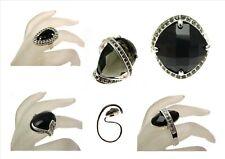 Large Black Chunky Rings Various Sizes