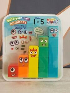 Numberblocks Cbeebies Number Blocks 1-5 With 3D Face Stickers Toy
