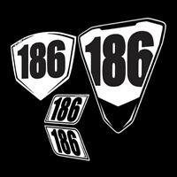 Yamah R3 Numberplates 2015-2018 trackday racing plates