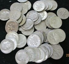 Roll of 50 Silver Roosevelt Dimes $5 Face Value 90% Silver Coins Mixed Dates