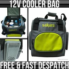 12v Sakura Portable / Travel Car Cooler Fridge Bag 14l Food & Drink