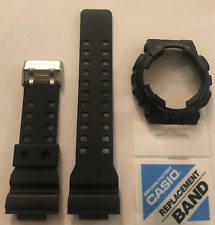 CASIO Original G-Shock  Band Strap GA-100 GA-100-1A2 & Black  Bezel  Cover GA100