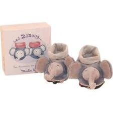 Moulin Roty Les Zazous Elephant Baby Slippers 0-6months