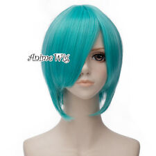 Hatsune Miku 30CM Short Straight Blue Green Anime Basic Hot Cosplay Full Wig