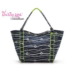 Thirty One summer Tote Ally awesome beach utility bag 31 gift Chains ahoy ee