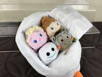 Frozen Fever - Olaf 4 Mini Tsum Tsum Bag Set - Disney Store UK - BNWT
