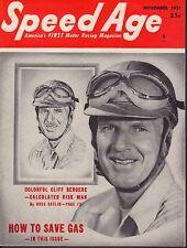 Speed Age Magazine November 1951 Cliff Bergere 080217nonjhe