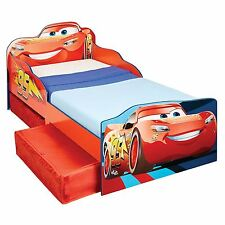 DISNEY CARS LIGHTNING MCQUEEN STORAGE TODDLER BED WITH TWO UNDERBED DRAWERS NEW