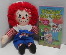 "12"" Raggedy Andy Plus Doll - 2002 Hasbro plus VIDEO - The Magic Wings Adventure"