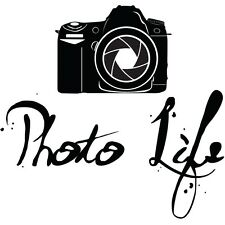PHOTO LIFE Photography Vinyl Decal Home Art Decor Quote Lettering Words