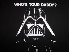 "Star Wars Darth Vader ""Who's Your Daddy"" Black Graphic T-Shirt - Size N/A"