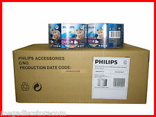 600 Pk PHILIPS 16x White Inkjet Printable Blank DVD-R Media 4.7G 12 X 50 Discs