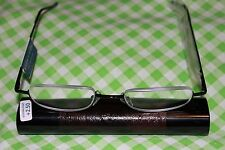 MAGNIVISION READERS  BY FOSTER GRANT(BLACK)+2.50 TUBE CASE INCLUDED