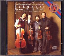 Gidon KREMER KASHKASHIAN YO-YO MA: SCHUBERT Quartet MOZART Adagio & Fugue CBS CD