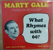 MARTY GALE - RISQUE STORIES - WHAT RHYMES WITH 69 COMEDY VINYL RECORD (RARE!!)