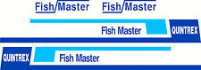 Quintrex Fishmaster Sticker Decal Marine Mirrored Set of 4
