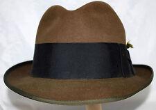 Vintage Wormser Kennel Club Dark Brown Felt Mens Fedora Hat Wide Headband Size S