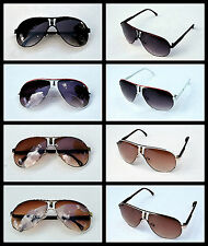 4 Pairs of Aviators Carre Sunglasses Large Fashion Designer  Mens Womens UV400