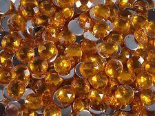 Acrylic Sew-on Gems 50pcs Round 14mm Yellow Jewel Rhinestone  FREE POSTAGE