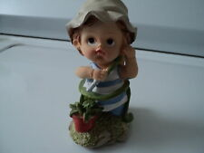 "TENDER TIMES FIGURINE ""BOY WITH THE GARDEN HOSE"""