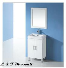 Bathroom Vanity with Polyurethane Door and Thick Ceramic Basin 600x450mm
