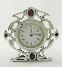 Miniature étain horloge | gothique celtique design | made in england | 71300 | nouveau