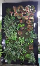 Artificial Succulents Plant Flower Wall Garden Steel Art RRP $1995  **70%OFF**