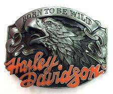 Harley Davidson Born To Be Wild-Biker Belt Buckle-Solid-Biker-Motorcycle-Chopper