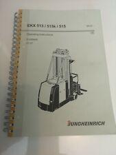 More details for jungheinrich ekx513 / 515k / 515 operator handbook