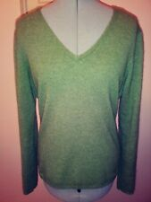 Fiona Women's Sweater Cashmere V Neck Pullover Fitted Size Large