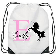 Personalised Unicorn Gym Bag PE Dance Sports School Swim Bag Waterproof
