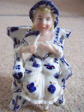 Germania Porcellana Donna seduta INA Sedia Figura Ornamento -