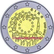 Irlanda  2€ 2015 30 anni Bandiera EU  FDC in oblò e posta prioritaria