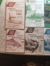 Vintage Pa Fish Commission Summary Of Regulations And Laws 8 Books 1980s