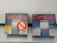 """Verbatim DataLife MD 2D 5.25"""" Diskettes Double Sided Double Density 2 boxes"""
