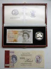 Kentfield HM70 001642 £10 Note & Silver Proof £5 Royal Mint & BOE Debden Box Set