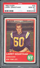 1963 Fleer #20 Larry Grantham PSA 10 MINT --  No Stripe Variation -- POP 1 RARE!