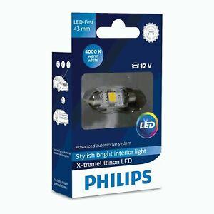 Philips Xtreme Ultinon X-tremeUltinon Festoon LED Bulb C5W 4000K 43mm (Single)