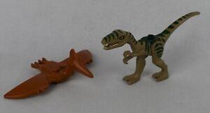 LEGO Minifigure Dino Hunter Rapter & Pteranodon Flying Reptile