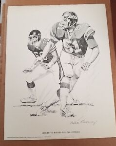 GREG BUTTLE NY JETS ORIGINAL 1981 SHELL OIL 11X14 LITHOGRAPH PRINT