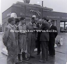 B/W 6x6 Negative x2  Marriotts Garage Worthing Mobil Gas Lower Brighton Road 50s