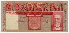 NETHERLANDS 1939 ISSUE 25 GULDEN BANKNOTE CRISP VF.PICK#50.
