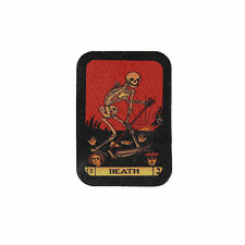 Biker Chopper Tarot Death Karte Tot Skelett Echt Leder Aufnäher Leather Patch